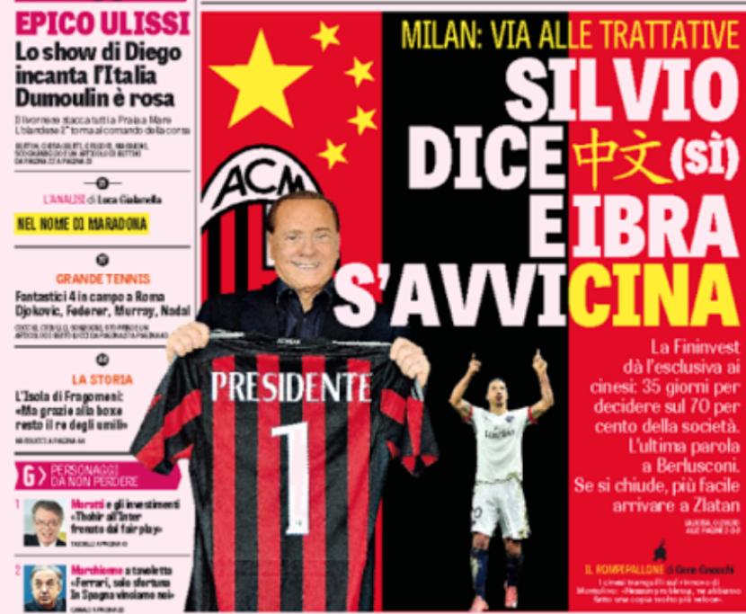 Il Milan, la Cina e l'errore sullaGazzetta