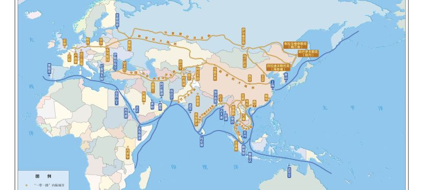 La Belt and Road Initiative nella nuove mappe cinesi