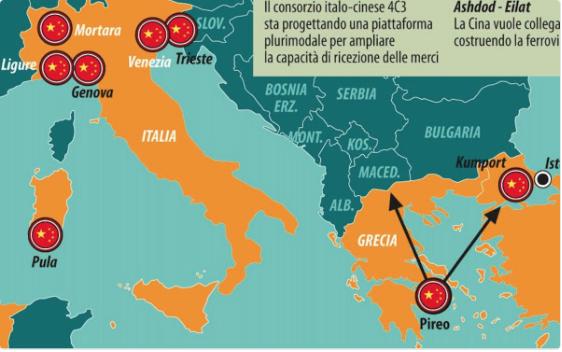 Le esercitazioni Cina-Italia nel Mediterraneo e il treno per Milano. Luglio lungo le nuove vie dellaseta
